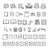 Document d'icône illustration stock