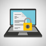 Document data protection cyber security Stock Images