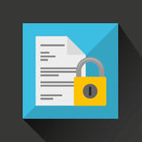 Document data protection cyber security Stock Photo