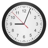 Document de besnoeiing van prikklok, horloge is aantal met uurhand en minu vector illustratie