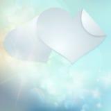 Document de dagkaart van hartenvalentijnskaarten. Royalty-vrije Stock Afbeeldingen