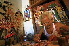 Document de Marionetten van Wayang Stock Foto's