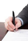 Document de signature Photos libres de droits