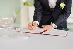 Document de signature Photo stock