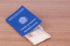 Document de travail brésilien et document de sécurité sociale (carteira d Photo libre de droits