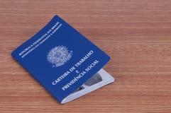 Document de travail brésilien et document de sécurité sociale (carteira d Images libres de droits