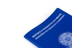 Document de travail brésilien et document de sécurité sociale (carteira d Photographie stock