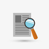 Document design. lupe icon. Isolated illustration Royalty Free Stock Photo