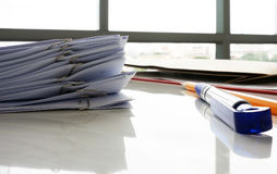 Document on desk Stock Images