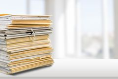 Document. Paper file stack paperwork organization data royalty free stock photo
