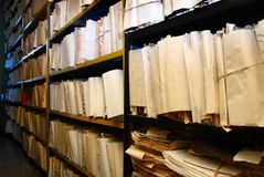 Document documenten in archief stock afbeelding