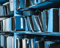 Document documenten die in archief worden gestapeld royalty-vrije stock afbeeldingen