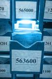 Document documenten die in archief worden gestapeld royalty-vrije stock afbeelding