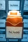 Document documenten die in archief worden gestapeld royalty-vrije stock foto