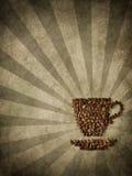 Document en koffie Stock Fotografie