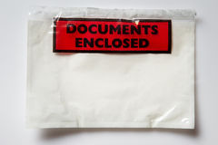 Document Enclosed Stock Photo