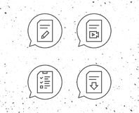 document et signes de fichier vidéo illustration stock