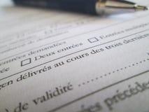 Document et stylo Photo stock