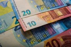 Document euro nota's Twintig euro Stock Afbeelding