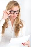 Document examination Royalty Free Stock Image