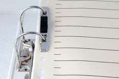 Document file. Detail shot of a typical filled document file royalty free stock photos