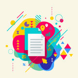 Document file on abstract colorful spotted background with diffe Stock Photography