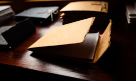 Document file. Depth of field document file stock image