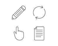 Document file, Edit and Refresh line icons. Royalty Free Stock Photography