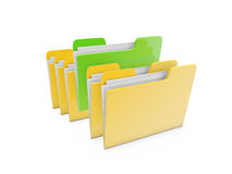Document file Folder. Isolated on white background Royalty Free Stock Photo