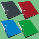 Document file folder. 4 document file folder on greenbackground Royalty Free Stock Images