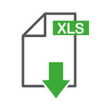 Document file format with arrow download isolated icon. Illustration design Royalty Free Stock Image