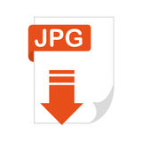 Document file format with arrow download isolated icon. Illustration design Royalty Free Stock Photo