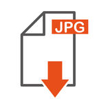 Document file format with arrow download isolated icon. Illustration design Stock Image