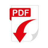 Document file format with arrow download isolated icon. Illustration design stock illustration