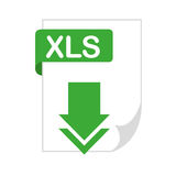 Document file format with arrow download isolated icon. Illustration design Royalty Free Stock Images