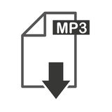 Document file format with arrow download isolated icon. Illustration design Stock Photos