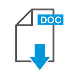 Document file format with arrow download isolated icon. Illustration design Royalty Free Stock Photography