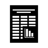 Document file format isolated icon. Illustration design Royalty Free Stock Photo