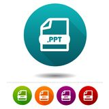 Document file icon. Download PPT symbol sign. Web Button. Eps10 Vector design Stock Image
