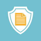 Document file icon. In round shape,  illustration Royalty Free Stock Photo