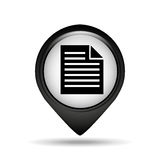 Document file icon. In round shape,  illustration Stock Images