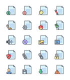 Document & File icons, color set - Vector Illustration. An illustration set for your web page, presentation, & design products Royalty Free Stock Photography