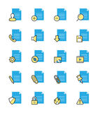 Document & File icons, Monochrome color - Vector Illustration. An illustration set for your web page, presentation, & design products Stock Image
