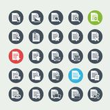 Document File icons Royalty Free Stock Photos