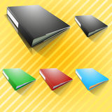 Document file. File in many colors black red blue green Royalty Free Stock Photo