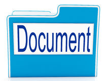 Document On File Meaning Organizing. Document On File Means Organizing And Paperwork Stock Photo
