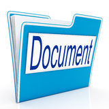 Document On File Means Organizing And Paperwork Royalty Free Stock Images