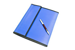 Document file and pen Stock Photography