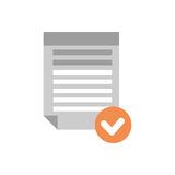 Document File Selected Icon Checklist Paper. Flat Vector Illustration Royalty Free Stock Photography