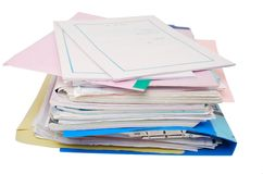 The document files Royalty Free Stock Photos